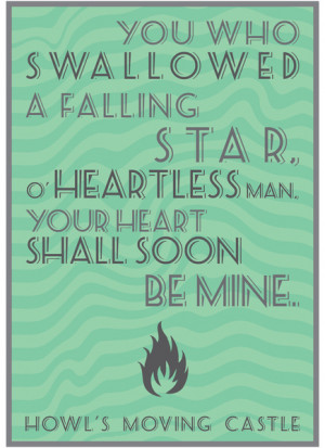 Howl's Moving Castle Quote Art Print