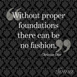 ... can be no fashion.