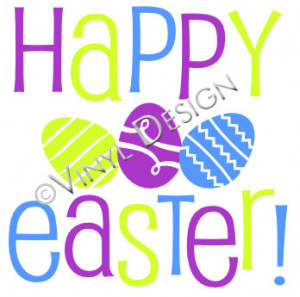 home vinyl wall art easter happy easter happy easter