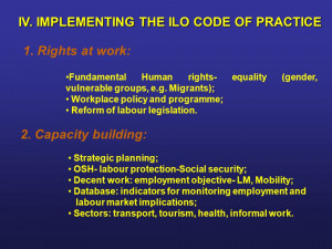 rights equality gender vulnerable groups eg Migrants Workplace