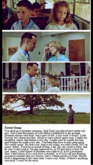 Forrest Gump and Jenny, gets me everytime. #quotes #love