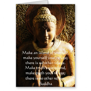 Zen Buddhist Quote, Saying and Words of Wisdom Greeting Card