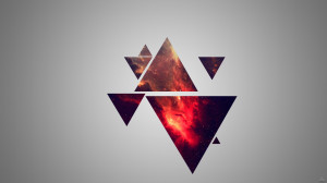 Abstract Hipster Minimalistic Nebulae Wallpaper