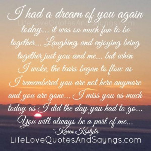 Had A Dream Of You Again Today..