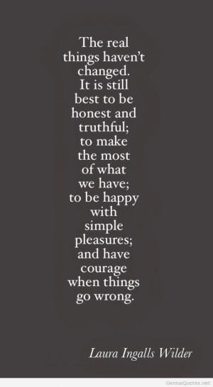Laura Ingalls Wilder cute quote