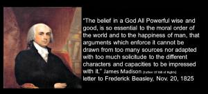 James Madison faith in God Nissi