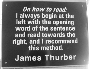 Charlotte Library Quotes _ James Thurber by trythesky, via Flickr
