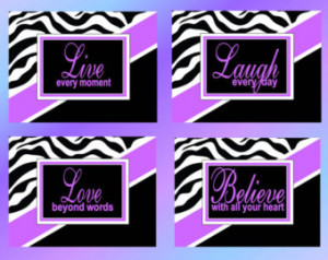 ... Prints Live Laugh Love Believe Inspiration Quotes Girls Room Nursery