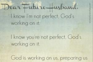 Dear Future Husband Letters