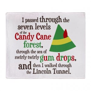 ... Gifts > 1512Blvd Living Room > Candy Cane Forest Quote Throw Blanket