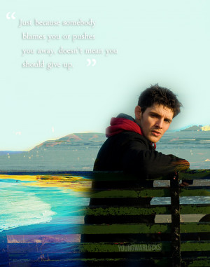 ... the way up because you'll need them on the way down. ~ Colin Morgan