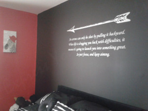 Arrow quote – wall art decal