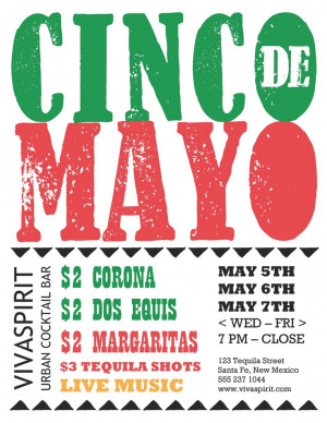 Menu of the Week: Get Festive with the Cinco de Mayo Flyer ...