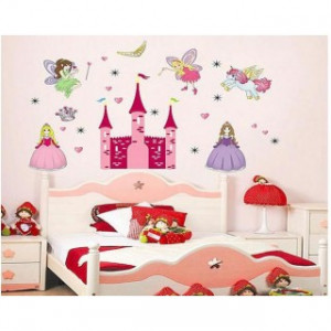 Pink Princess Castle and Angel