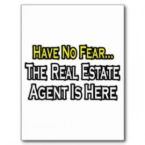 Funny Real Estate Agent Postcards & Postcard Template Designs