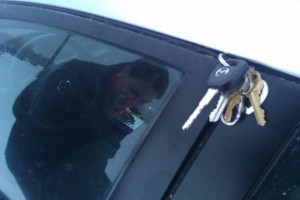 ... lock their keys in their car. My wife locks her keys TO her car