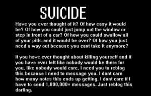 death depression sad suicidal suicide ask help self harm cut message ...
