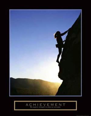 ACHIEVEMENT Women's Rock Climbing Poster - Motivational, Inspirational ...
