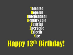 ... 13th birthday wishes messages happy birthday its my sons 13th birthday