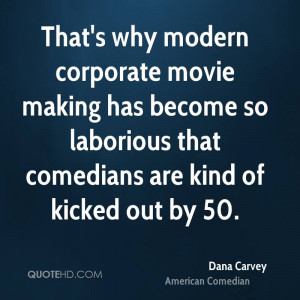 That's why modern corporate movie making has become so laborious that ...