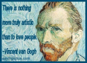 ... for this image include: artistic, love, quote and vincent van gogh