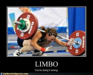20. Funny sports: weight lifting fail – limbo