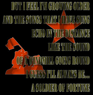 Soldier Of Fortune - Deep Purple Song Lyric Quote in Text Image