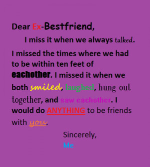 Dear Best Friend Tumblr...