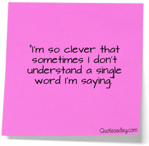 Clever Witty Sayings (1)