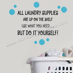 laundry supplies wall decal when the laundry piles up who gets to do ...