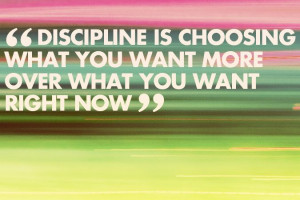Discipline, I need more of this