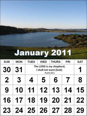 2011 Monthly Motivational Quotes Calendars