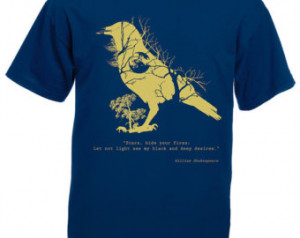 Crow tshirt, raven t shirt, Shakesp eare quote. Forest woodland ...