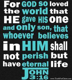 Bible Quotes Tattoos John 3:16 John 3:16 bible verse www.
