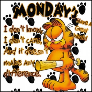 Garfield beating his Monday blues???