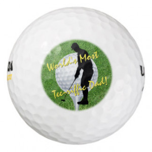 Funny Worlds Most Tee-riffic Golf Dad Quote Pack Of Golf Balls