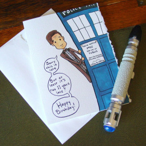 Doctor Who Happy Birthday Card Doctor who belated birthday