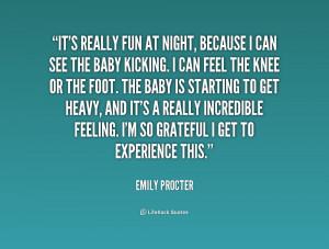 Baby Kicks Quotes