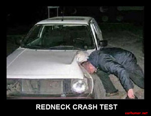 car-humor-funny-joke-road-street-drive-driver-redneck-crash-test ...