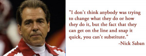 """Nick Saban: """"I had nothing to do with the idea of the 10-second rule ..."""