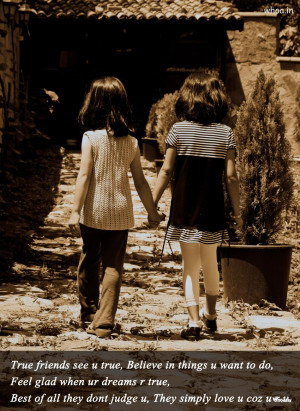 Two Little Girls Friendship With Friendship Quote HD Wallpapers For ...