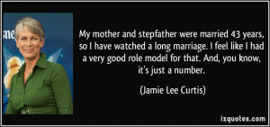 My mother and stepfather were married 43 years, so I have watched a ...