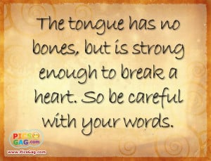 Be Careful With Your Words Inspirational Quote and Inspirational SMS ...