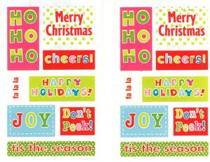 Details about Mrs Grossman Sticker - CHUBBY CHRISTMAS SAYINGS Joy