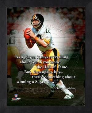 Framed Terry Bradshaw Pittsburgh Steelers Pro Quotes