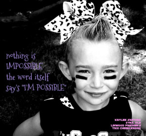 Cheerleading quotes.... She is too adorable!