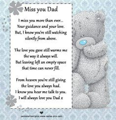 Missing Dad Poems From Daughter Miss you