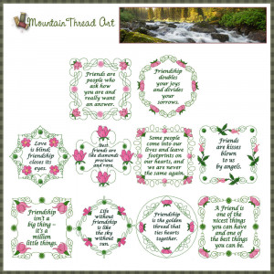 Home :: Quote Sets :: Wild Irish Rose Friendship Quotes 'N Quilt Block ...