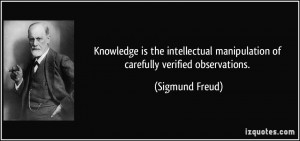 Knowledge is the intellectual manipulation of carefully verified ...