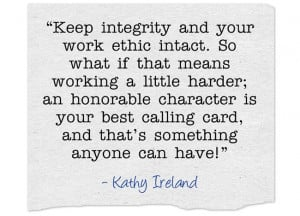 integrity and work ethic
